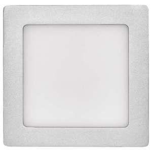 EMOS LED panel 174×174, přisazený stříbrný, 12W neutrální bílá 1539067150