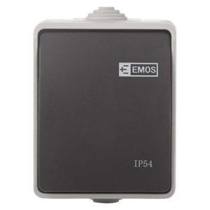 EMOS Přepínač nástěnný křížový č. 7, IP54, 1 tlačítko 1950011202