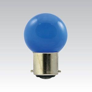 NBB LED G45 230-240V 1W/018 COLOURMAX B22d MODRÁ IPX4 250655150