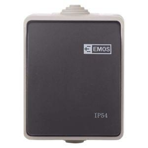 EMOS Přepínač nástěnný č. 1,6 IP54, 1 tlačítko 3104139800