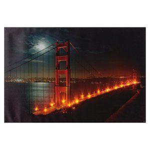 Heitronic LED obraz Golden Gate 600x400mm