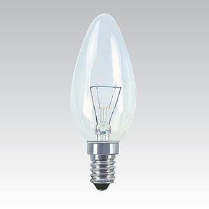 žárovka svíčková čirá 60W/E14