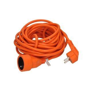 Solight prodlužovací kabel - spojka, 1 zásuvka, oranžová, 7m PS15O
