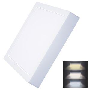 Solight LED mini panel CCT, přisazený, 24W, 1800lm, 3000K, 4000K, 6000K, čtvercový WD175 Studená bílá