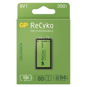 EMOS Nabíjecí baterie GP ReCyko 200 (9V), 1 ks B2152