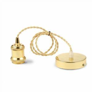 V-TAC závěsná objímka E27 matt gold VT-7555-3844