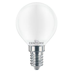 CENTURY LED FILAMENT MINI GLOBE SATEN 4W E14 4000K 470Lm 360d 45x80mm IP20 CEN INSH1G-041440