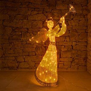 DecoLED Světelný anděl 2 m, teple bílá