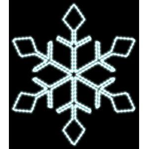 DecoLED LED světelná vločka, pr. 80cm, ledově bílá D106S1