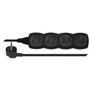 EMOS Prodlužovací kabel 4 zásuvky 5m - černý 1902240500