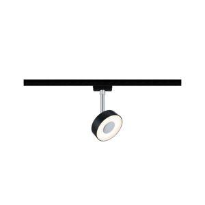PAULMANN URail LED-spot Circle 5W černá mat 2700K kov/umělá hmota stmívatelné 969.15 96915