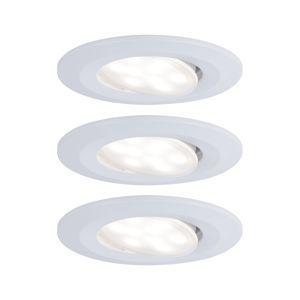PAULMANN Vestavné svítidlo LED Calla kruhové 3x6,5W bílá mat výklopné 999.31 P 99931