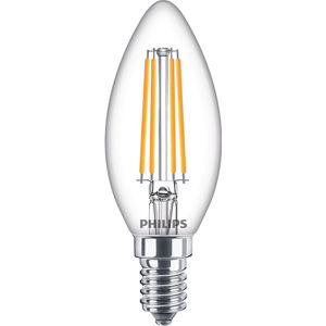Philips Classic LEDcandle ND 6.5-60W B35 E14 827 CL Čirá